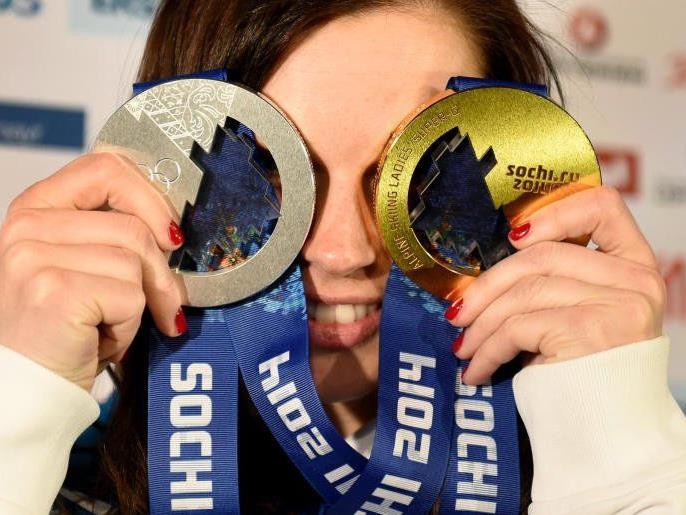 Anna Fenninger holte gleich 2 Medaillen
