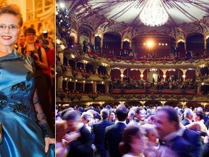 Dieses Kleid hat sich Ex-Ministerin Beatrix Karl für die Grazer Opernredoute anfertigen lassen.