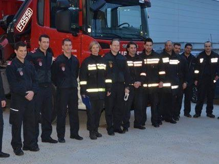 Am Freitag sind weitere Feuerwehrleute aus Wien aufgebrochen.
