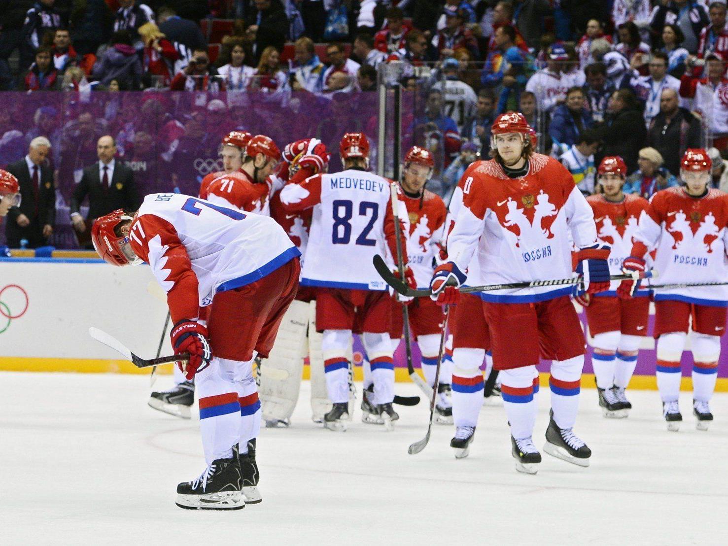 Hängende Köpfe bei den Russen nach dem Aus bei der Heim-Olympiade.