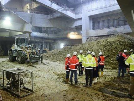 Die Arbeiten für die U1-Verlängerung laufen bereits auf Hochtouren.