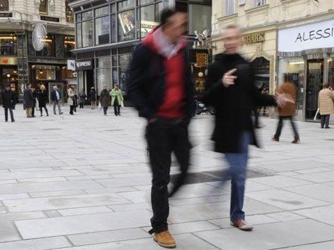 Wien hat viel Fläche an Fußgängerzonen.