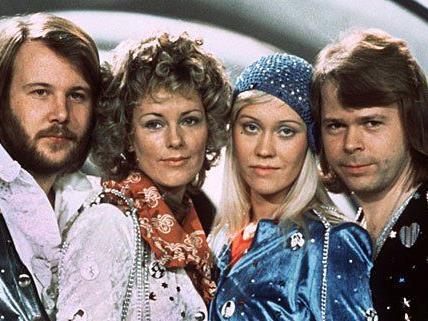 Die Band hinter dem Musical: ABBA (l-r) Benny Andersson, Annafrid Lyngstad, Agnetha Fältskog und Björn Ulvaeus