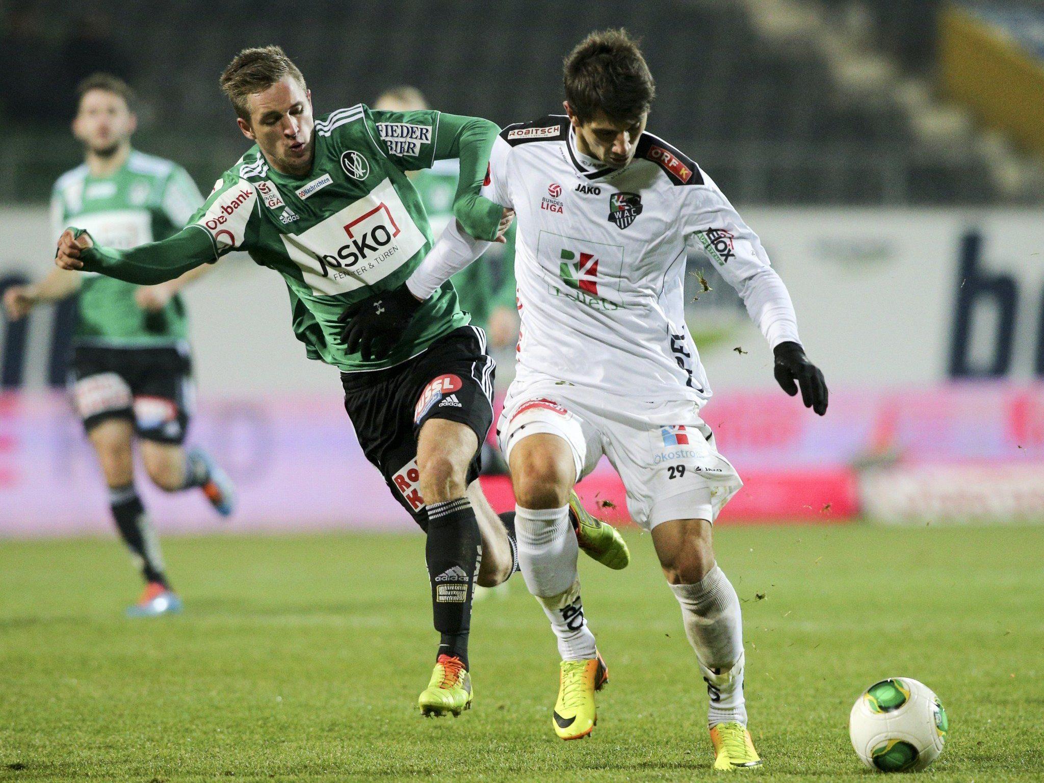 LIVE-Ticker zum Spiel WAC gegen SV Ried ab 20.30 Uhr.