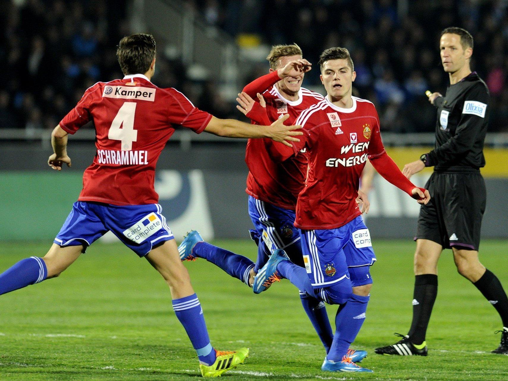 Rapid Wien setzte sich am Mittwochabend gegen den SC Wiener Neustadt durch.