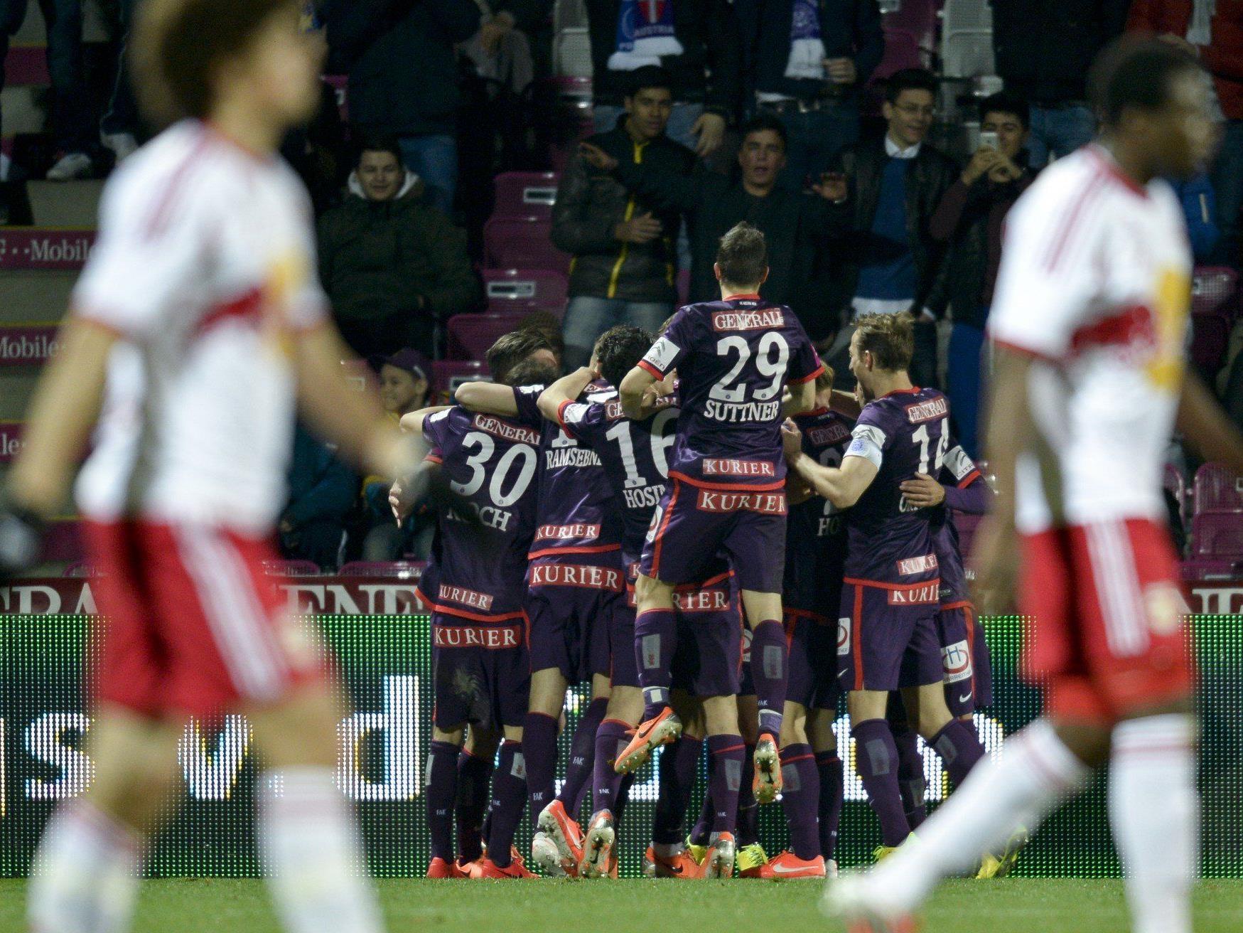 Austria Wien konnte Meister Red Bull Salzburg am Mittwochabend mit 3:0 besiegen.