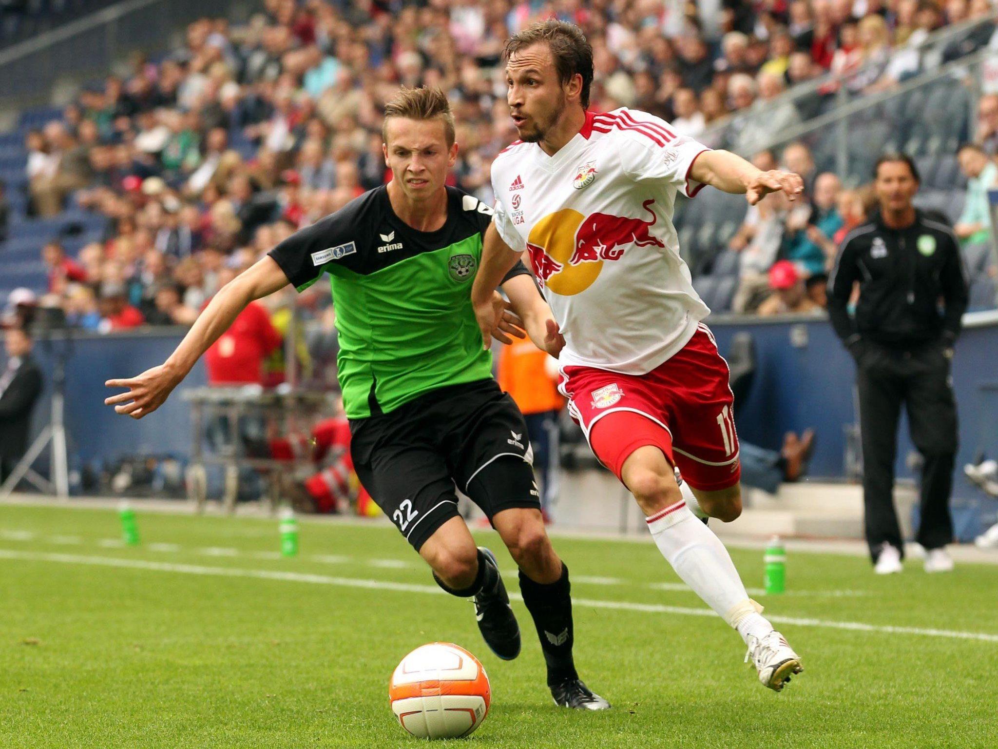 Schobesberger (li.) Im Duell gegen Ulmer im ÖFB-Cup-Halbfinale 2013.