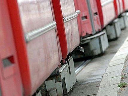 Straßenbahn-Unfall in Wien-Simmering.