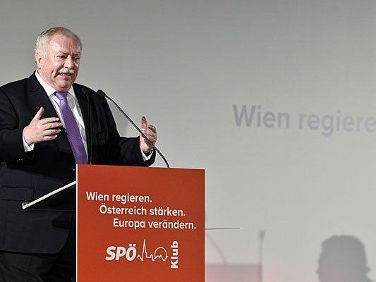 Häupl bei der Klubtagung 2014 der Wiener SPÖ in Rust