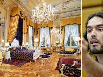 In der edlen Fürstensuite war Russell Brand untergebracht - dass Hitler in diesem Bett schlief, ist nicht belegt