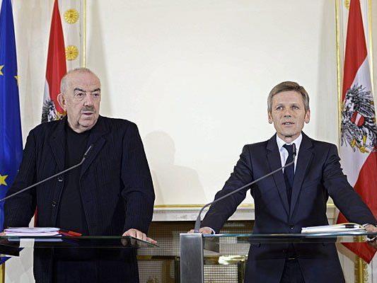 Josef Ostermayer (r.) und Georg Springer bei der Pressekonferenz am Dienstag in Wien