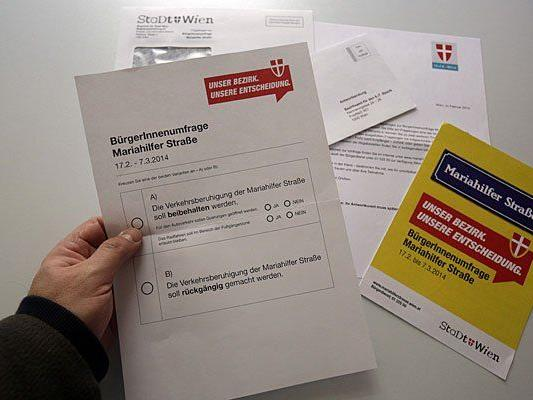Angeblich leicht zu fälschen - die Stimmzettel zur MaHü-Befragung