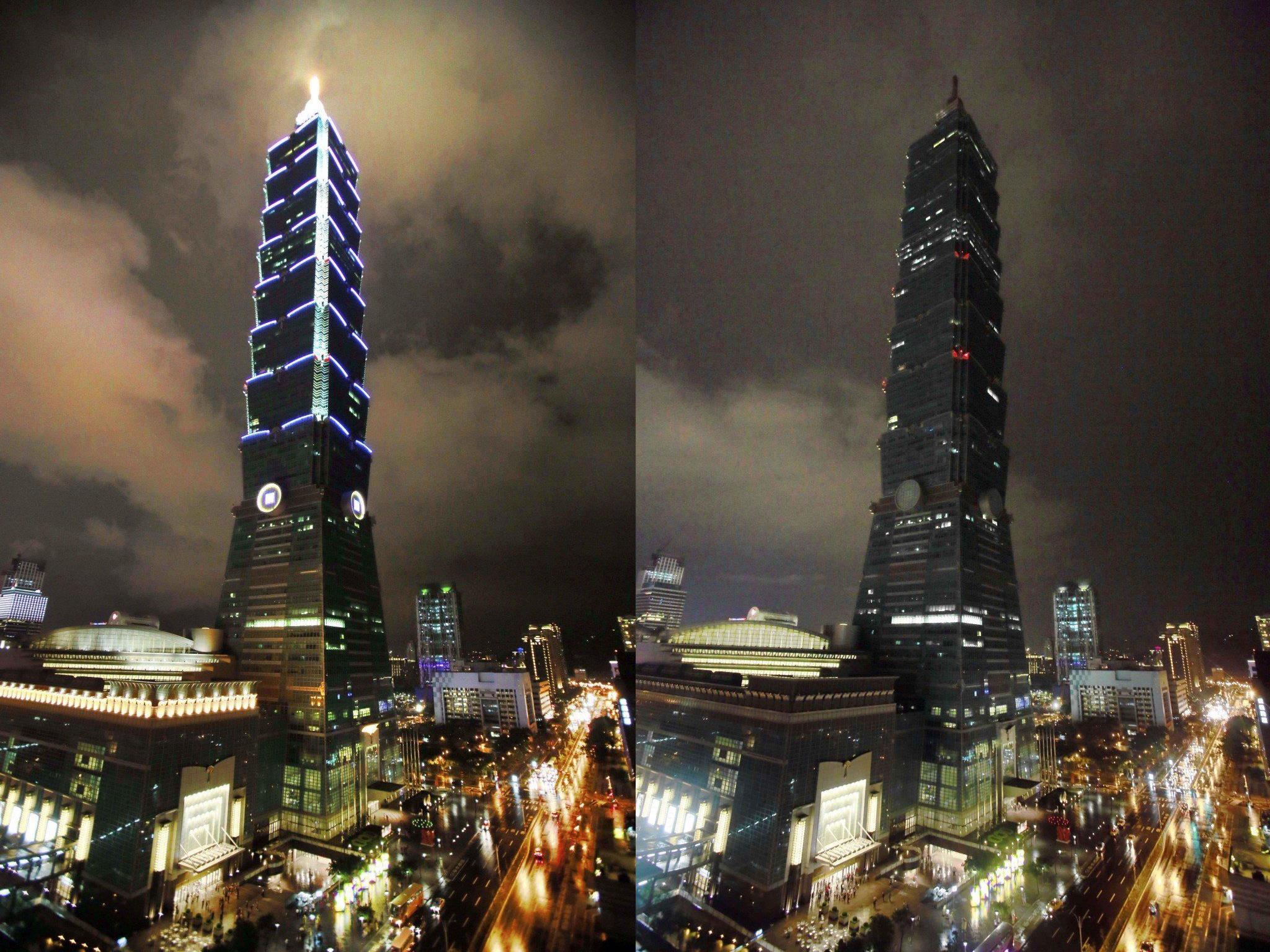 Weltweit gehen in 7.000 Städten für eine Stunde die Lichter aus - hier etwa in Taipeh.