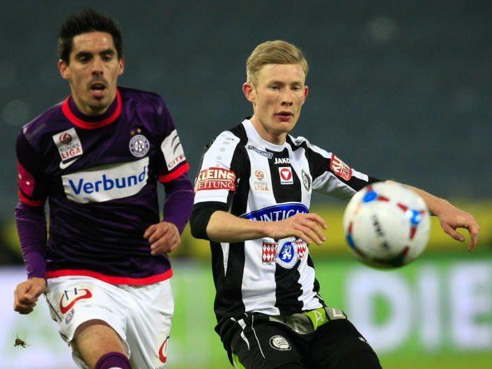 Mit einem 1:1 musste sich die Austria gegen Sturm Graz begnügen.