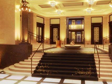 Die Lobby im Park Hyatt Hotel in Wien.
