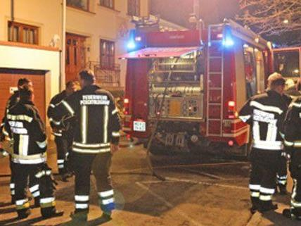 Feuerwehrleute bei den Löscharbeiten in Perchtoldsdorf.