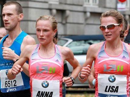 Die Hahner-Zwillinge nehmen am Vienna City Marathon teil.