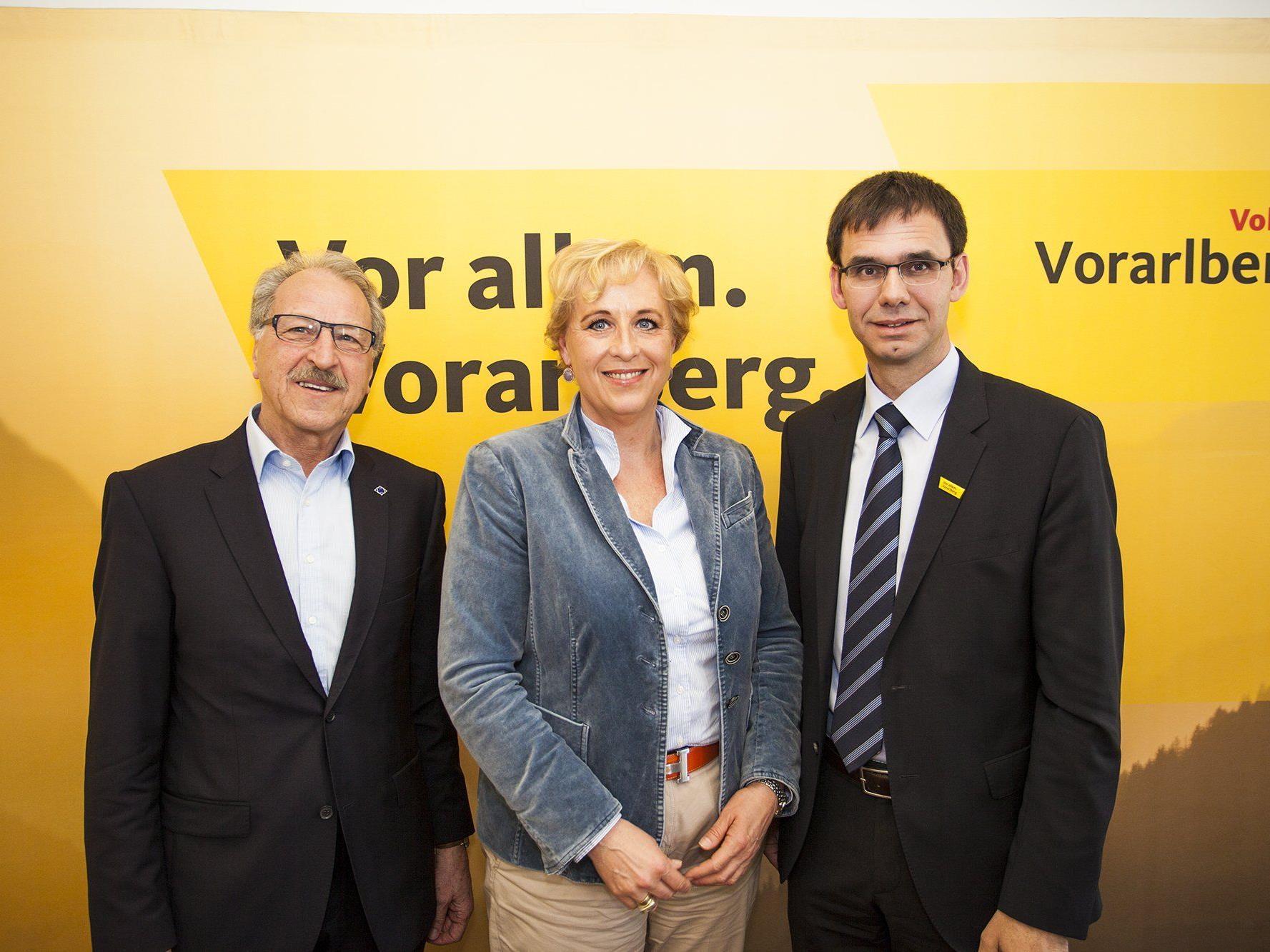 Erwin Mohr, Claudia Schmidt und LH Markus Wallner.