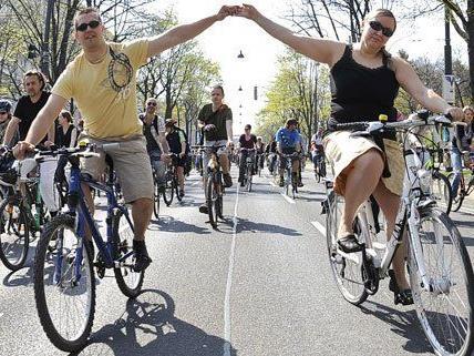 Am 6. April 2014 findet in Wien wieder die Radparade statt.
