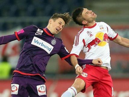 Meister Salzburg ist in Feierlaune gegen die Austria.