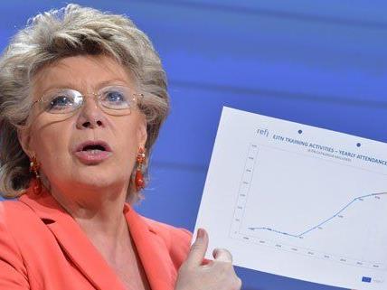 Auch Viviane Reding nimmt an der ORF-Wahlfahrt teil.