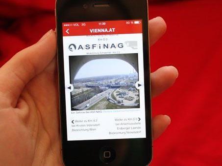 Mit der neuen VIENNA.AT-App ganz einfach über den Verkehr in Wien informieren.
