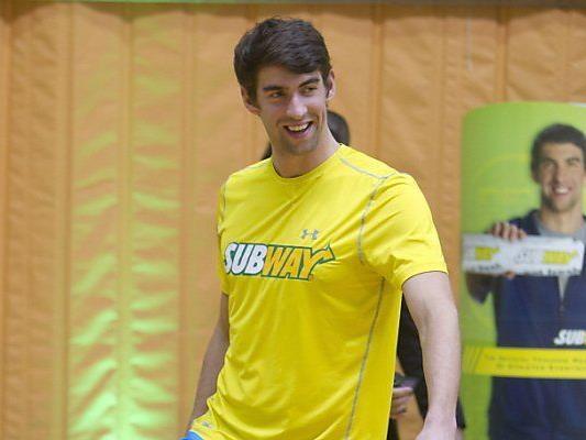 Phelps tauscht den Fußball gegen die Schwimmbrille