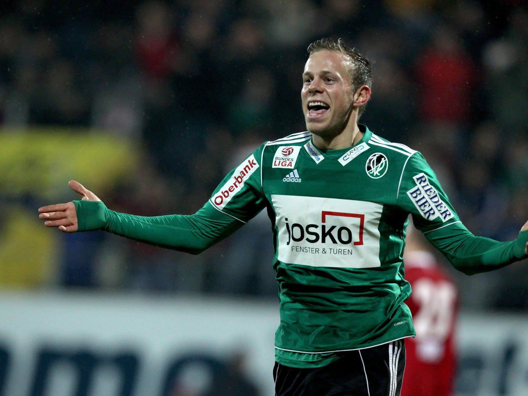 Austria Wien holte Mittelfeldmann Meilinger aus Salzburg