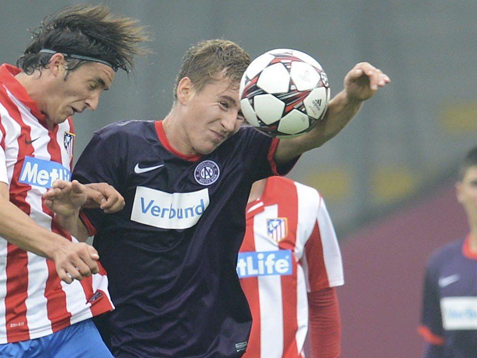 Austria-Spieler Valentin Grubeck (re) wurde am Donnerstagabend zusammengeschlagen.