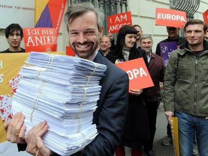 Martin Ehrenhauser hat am Mittwoch die Unterstützungserklärungen für Europa anders abgegeben.
