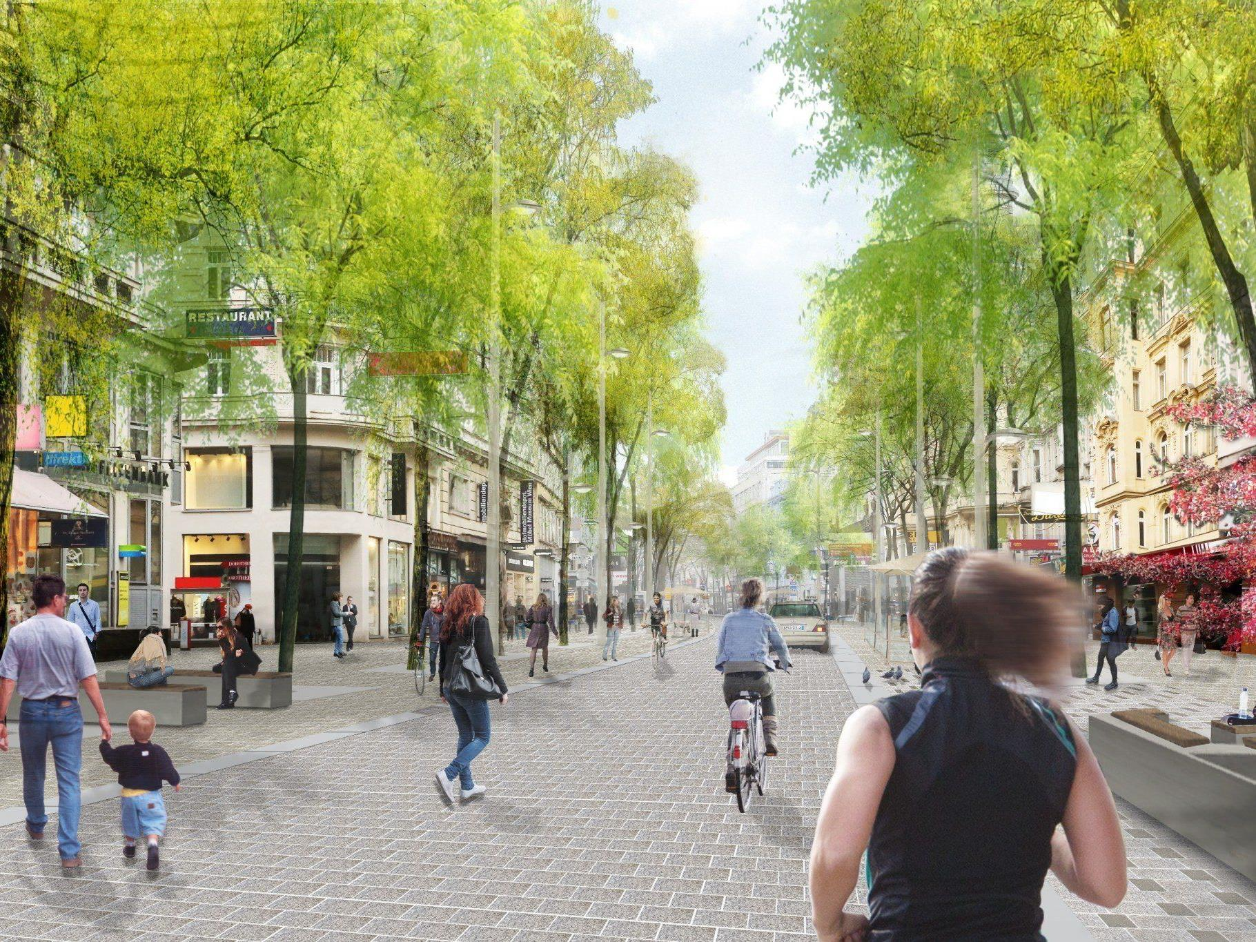 Am 19. Mai beginnt der Umbau der Mariahilfer Straße zur Fußgängerzone.