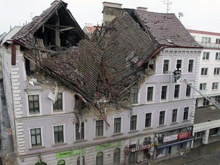 Das explodierte Haus in Wien