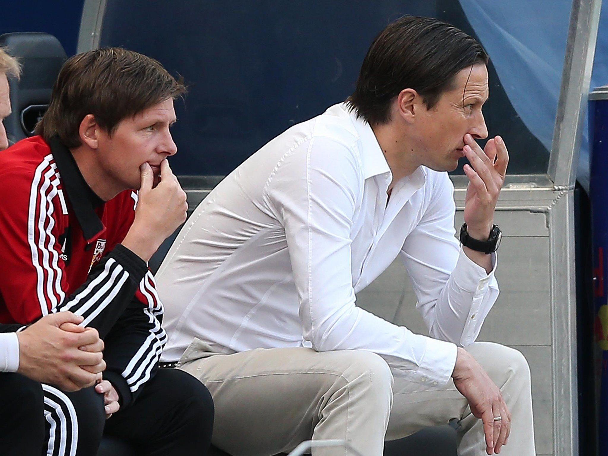 Roger Schmidt am Samstag gegen Sturm Graz. Seine Zukunft in Salzburg steht noch in den Sternen.
