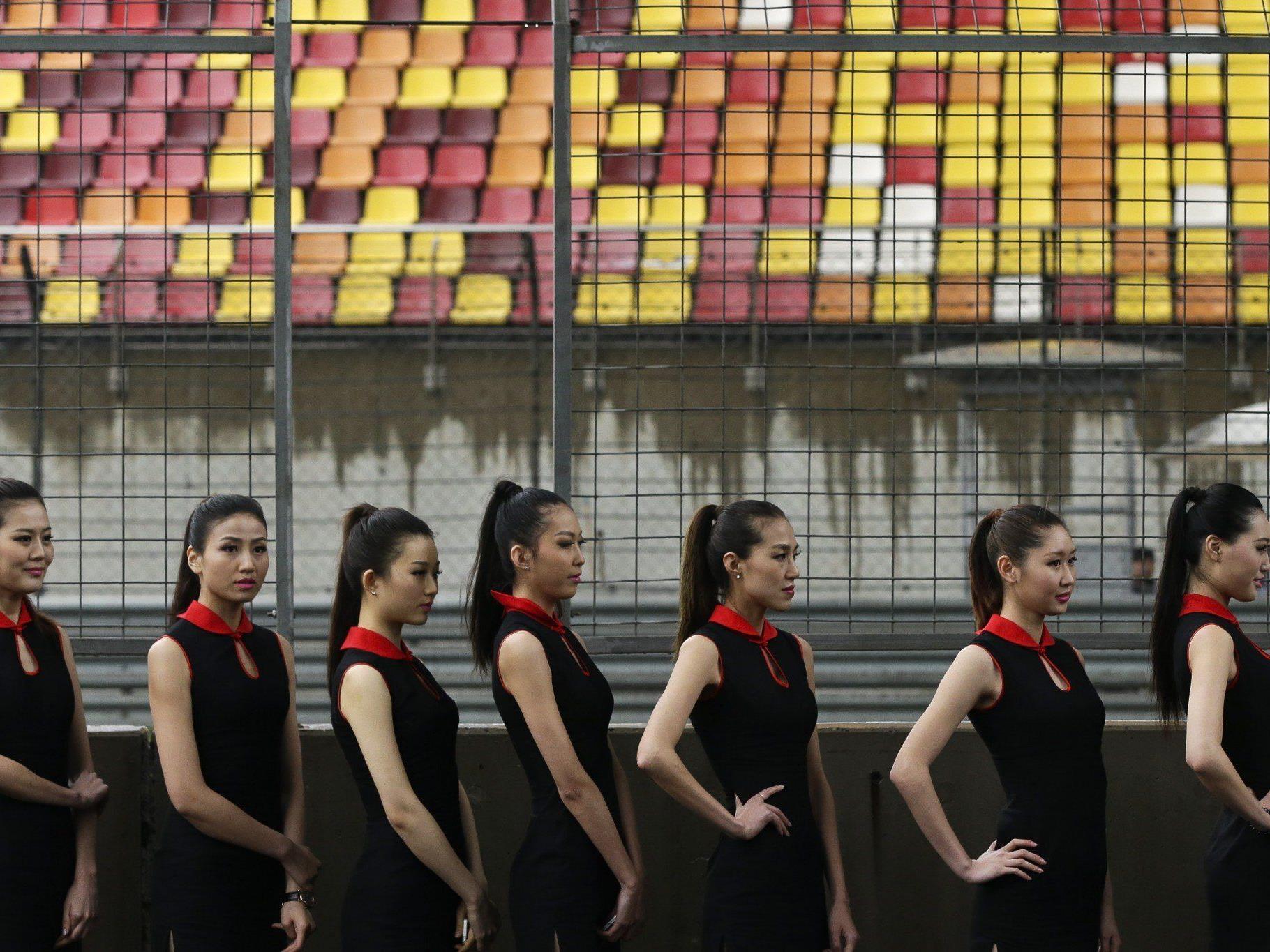Der Veranstalter des China-GP stellte den grid Girls keine Umkleidekabinen zur Verfügung.