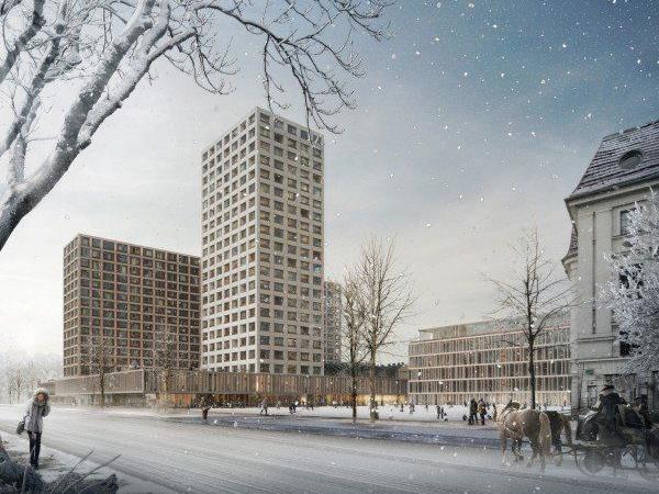 Entwurf für umstrittenes neues Hochhaus am Areal des Wiener Eislaufvereins