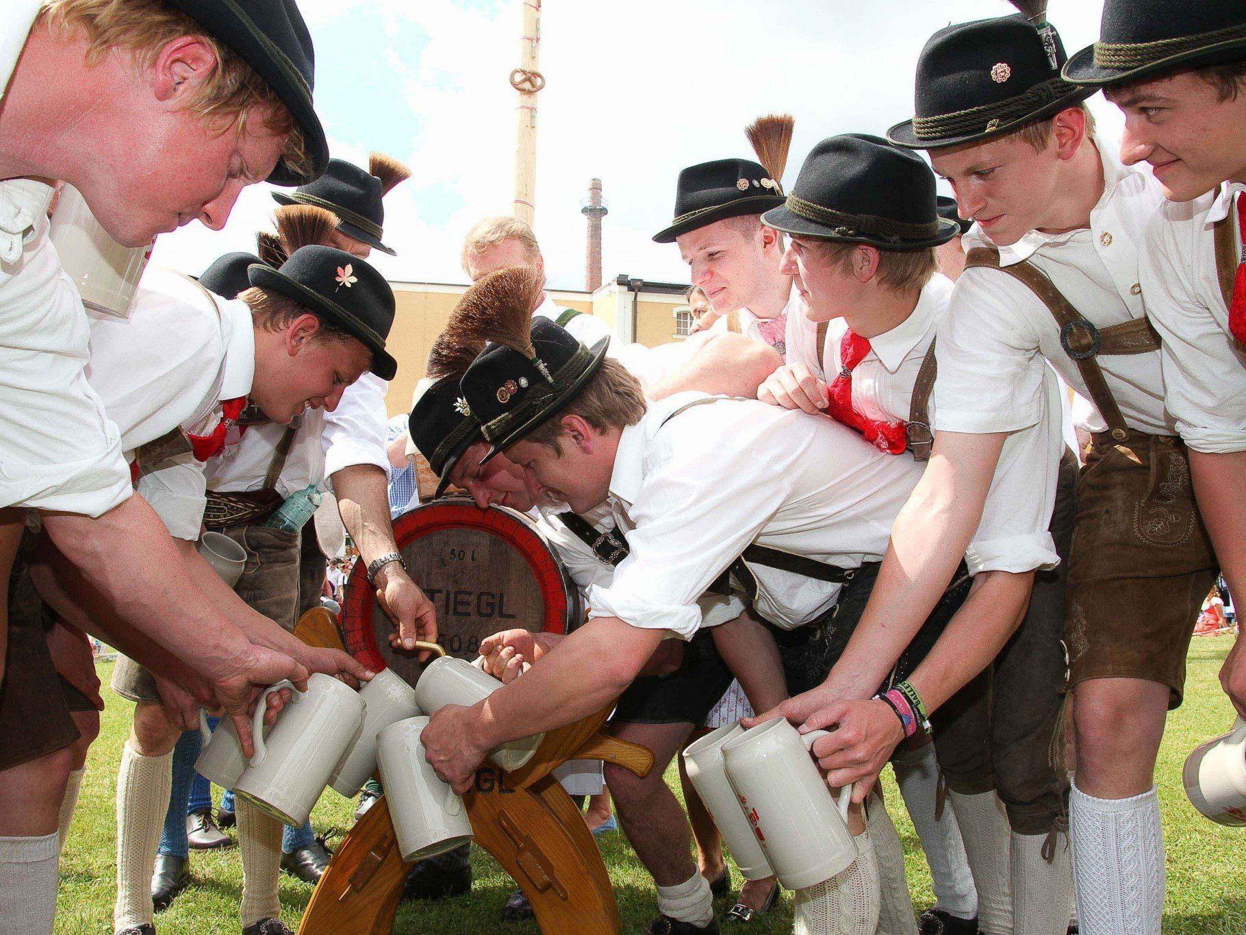 Am 4. Mai wird das Maifest in der Stiegl-Brauerei gefeiert.