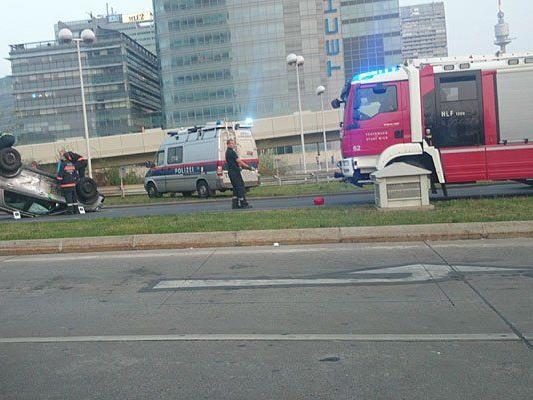 An der Unfallstelle auf der Wagramer Straße