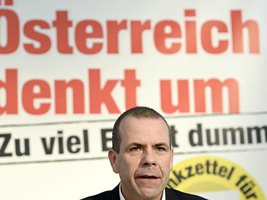 Nach dem Abgang Andreas Mölzers ist Harald Vilimsky der FPÖ-Listenerste für die EU-Wahl
