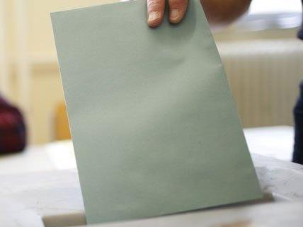 Die Stimmzettel für die EU-Wahl stehen