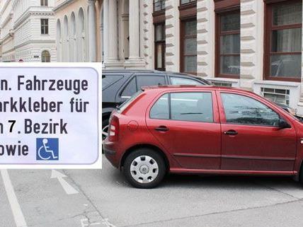Schilder wie dieses markieren die Anrainerparkplätze.