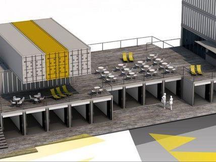 Bereits im Juni soll das Container-Shoppingcenter eröffnet werden.
