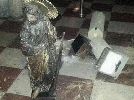 Vandalismus-Akte in Wiener Kirchen.