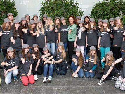 Auch die ASFINAG in Wien hatte am Donnerstag zum Töchtertag geladen.