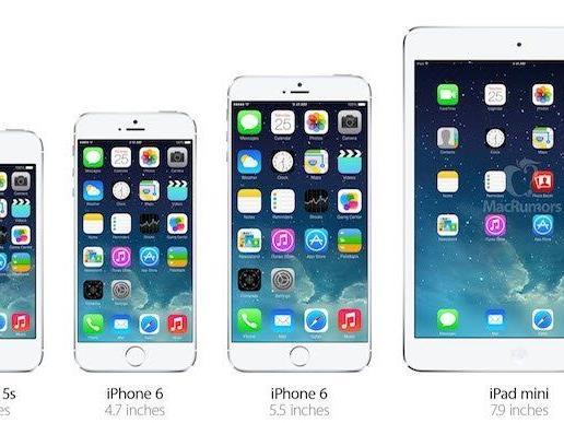 Gerüchte um das iPhone 6 deuten auf zwei Modelle mit 4,7 und 5,5 Zoll großen Displays hin.