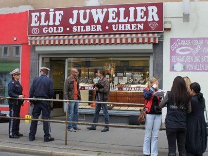 Der Juwelier in Wien-Hernals war bereits öfters ausgeraubt worden.