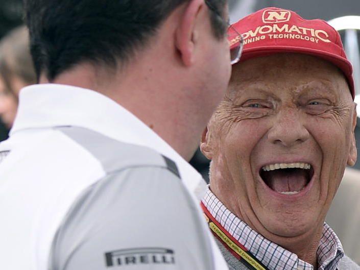 Lauda uns sein Mercedes-Team haben derzeit gut lachen