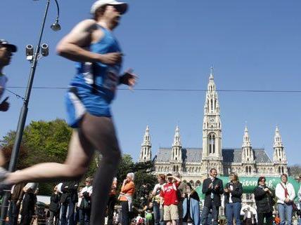 Acht Tage dauern die Aufbauarbeiten für den Wien-Marathon.