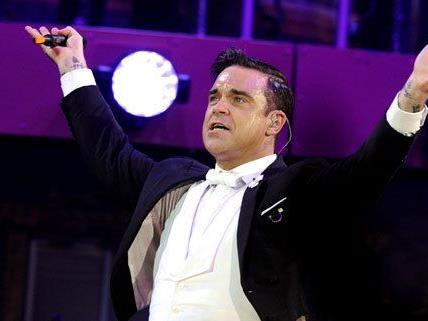 Robbie Williams beim Konzert in Wien am Montagabend.