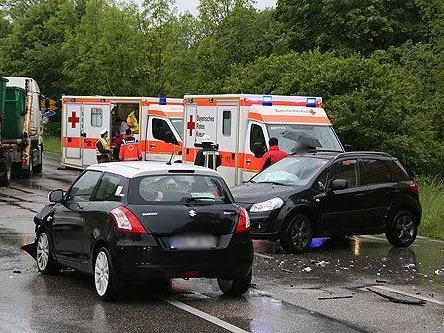 Bei dem Unfall in Bad Reichenhall wurden drei Frauen verletzt.