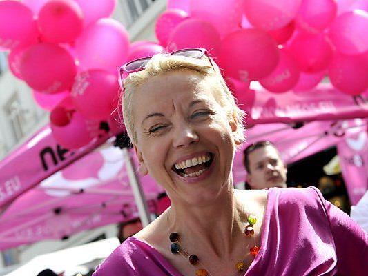 Strahlende Spitzenkandidatin Angelika Mlinar